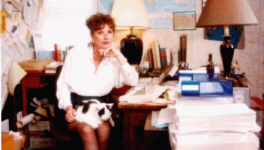 Gayle Lynds in her office
