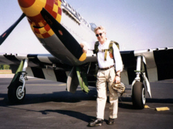 Wayne Miller with Jack Roush's P-51 Mustang