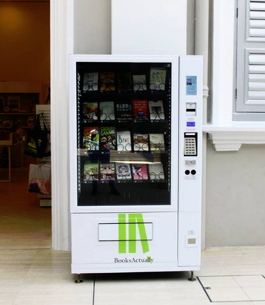Independent Bookstore BooksActually Installs Book Vending Machines in Singapore