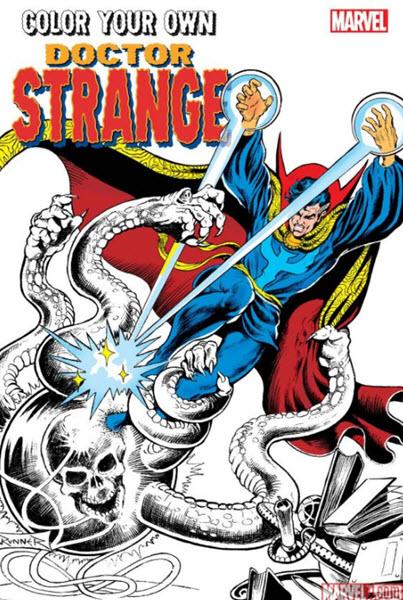 Color Your Own Doctor Strange Marvel adult coloring book