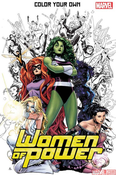Color Your Own Women of Power Marvel adult coloring book