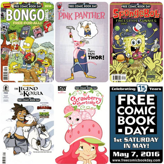 Free Comic Book Day 2016 Is Saturday May 7th